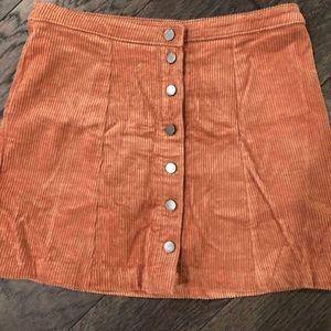 Orange Corduroy Skirt NWOT